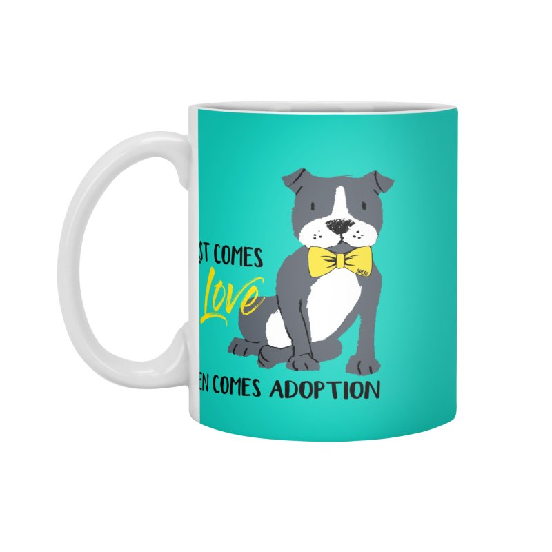 Pit Bull Love Accessories Standard Mug by SPCA of Texas' Artist Shop