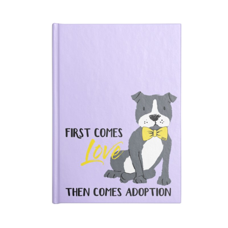 Pit Bull Love Accessories Lined Journal Notebook by SPCA of Texas' Artist Shop