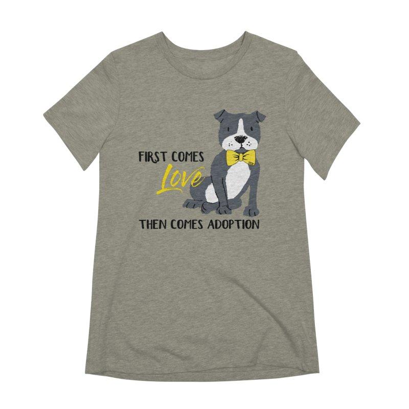 Pit Bull Love Women's Extra Soft T-Shirt by SPCA of Texas' Artist Shop