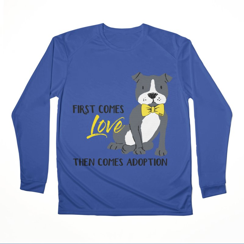 Pit Bull Love Men's Performance Longsleeve T-Shirt by SPCA of Texas' Artist Shop