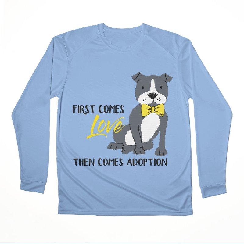 Pit Bull Love Women's Longsleeve T-Shirt by SPCA of Texas' Artist Shop