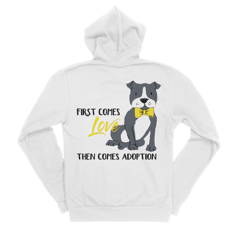 Pit Bull Love Men's Sponge Fleece Zip-Up Hoody by SPCA of Texas' Artist Shop