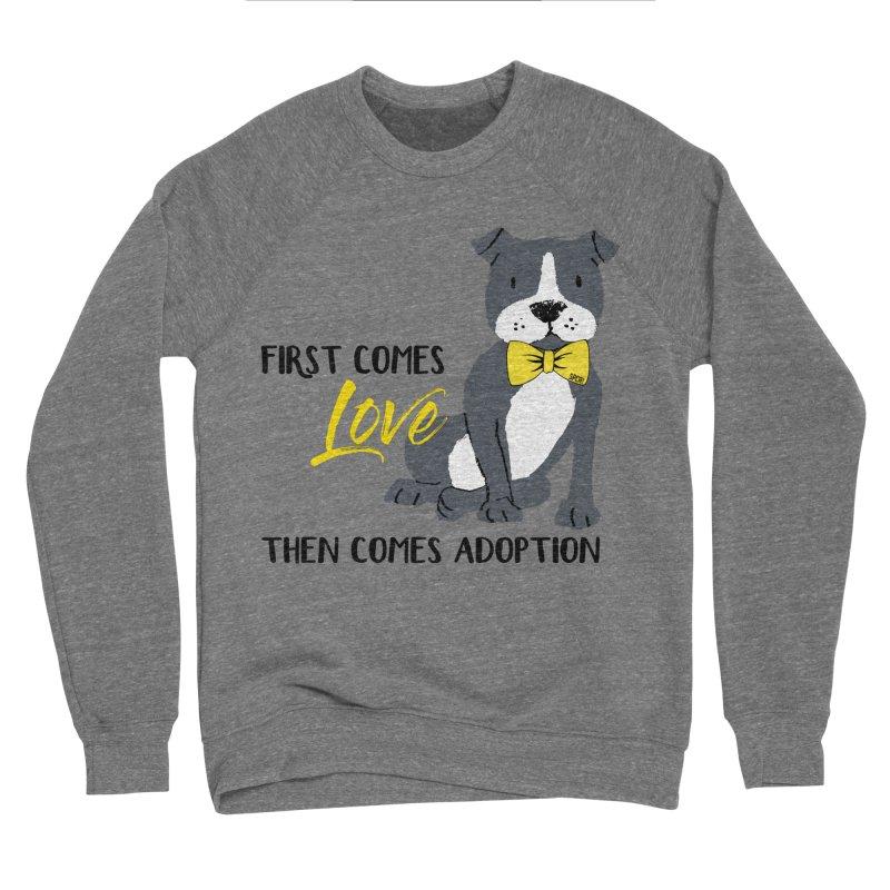 Pit Bull Love Men's Sponge Fleece Sweatshirt by SPCA of Texas' Artist Shop