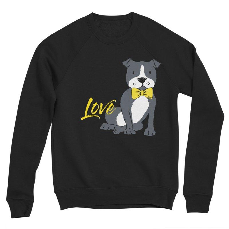 Pit Bull Love Women's Sponge Fleece Sweatshirt by SPCA of Texas' Artist Shop