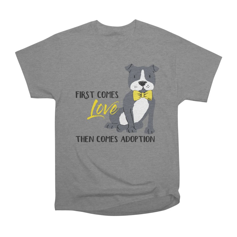 Pit Bull Love Women's Heavyweight Unisex T-Shirt by SPCA of Texas' Artist Shop