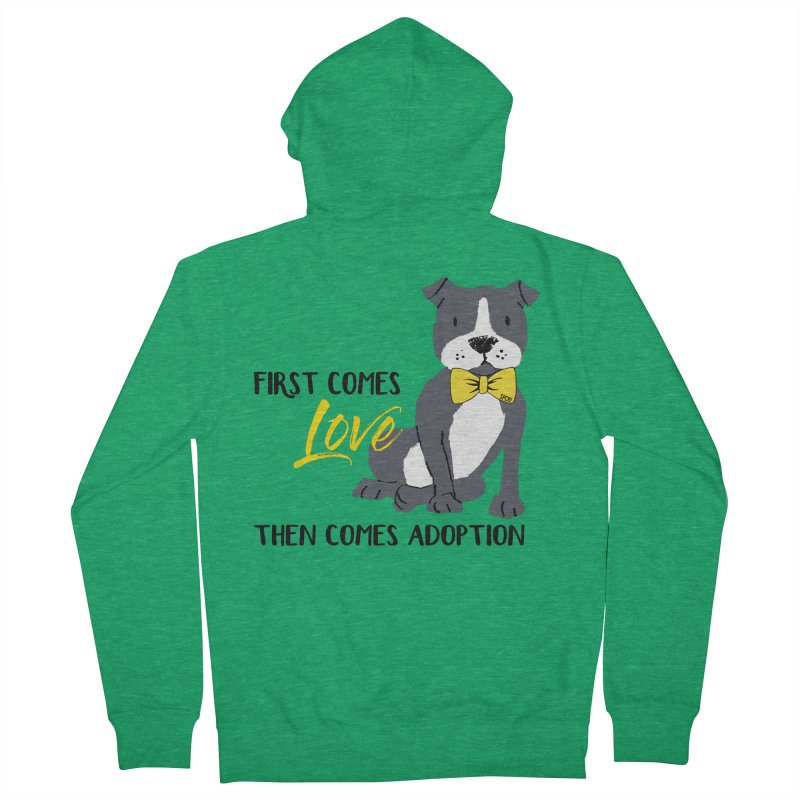 Pit Bull Love Women's French Terry Zip-Up Hoody by SPCA of Texas' Artist Shop