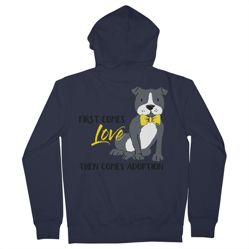 Pit Bull Love Men's French Terry Zip-Up Hoody by SPCA of Texas' Artist Shop