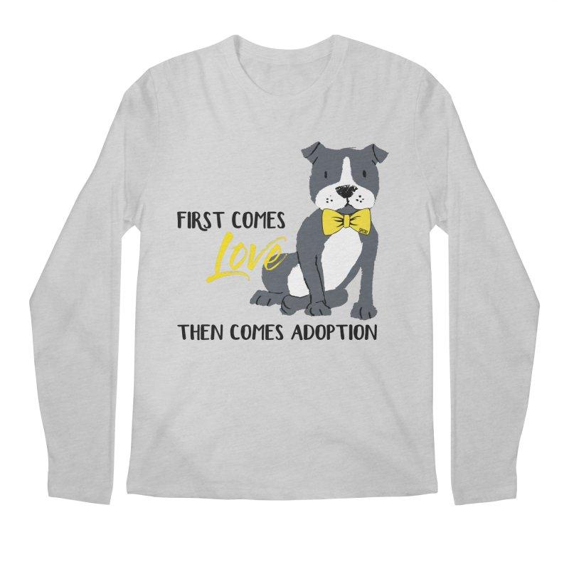 Pit Bull Love Men's Regular Longsleeve T-Shirt by SPCA of Texas' Artist Shop