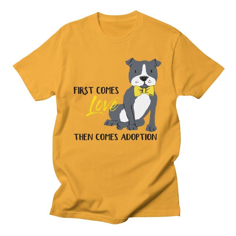 Pit Bull Love Women's Regular Unisex T-Shirt by SPCA of Texas' Artist Shop