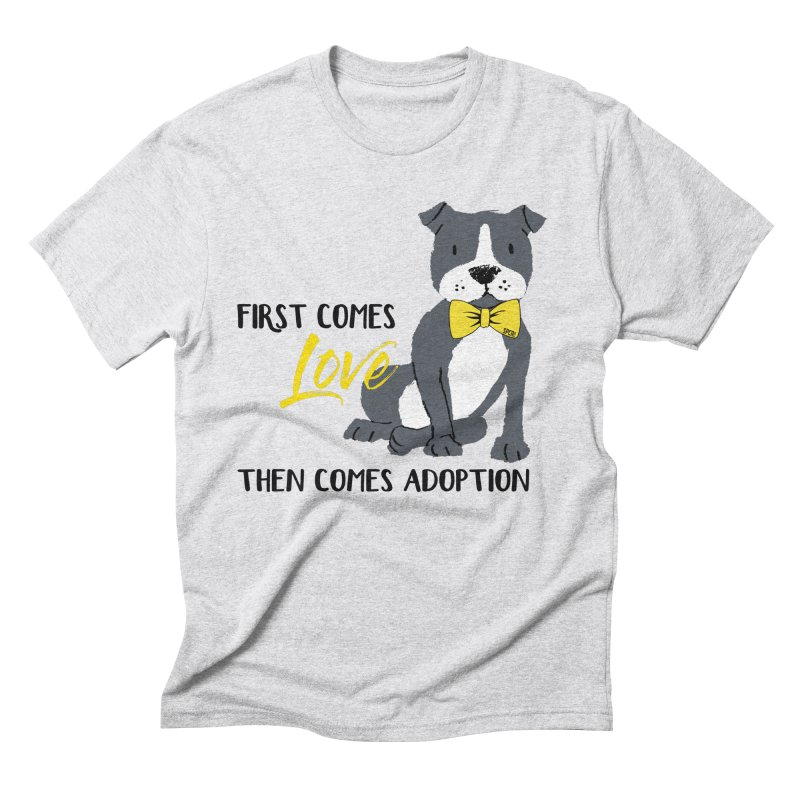 Pit Bull Love Men's Triblend T-Shirt by SPCA of Texas' Artist Shop