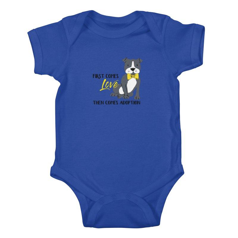 Pit Bull Love Kids Baby Bodysuit by SPCA of Texas' Artist Shop
