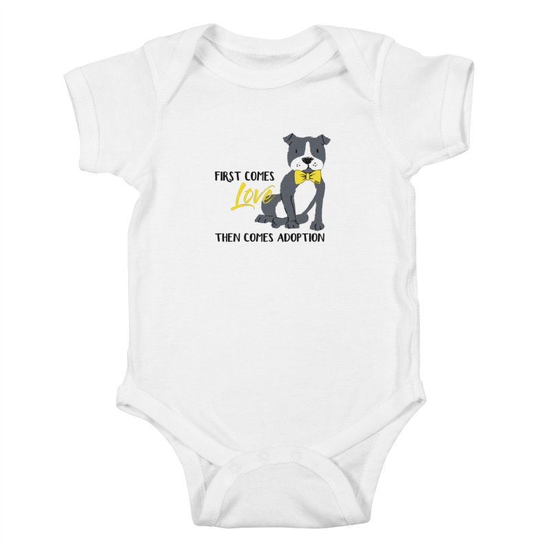 Pit Bull Love Kids Baby Bodysuit by SPCA of Texas' Artist Shop