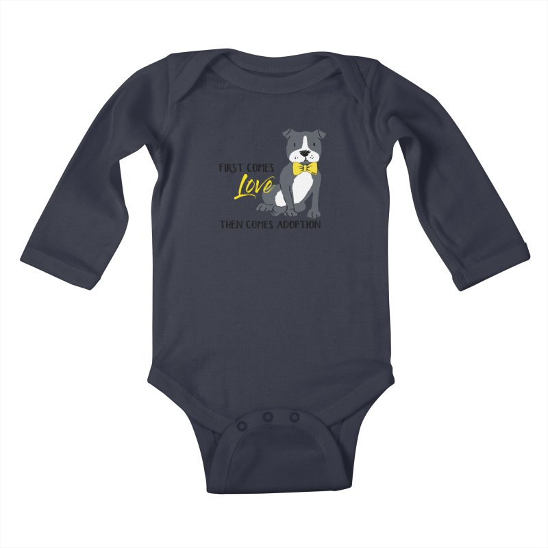 Pit Bull Love Kids Baby Longsleeve Bodysuit by SPCA of Texas' Artist Shop