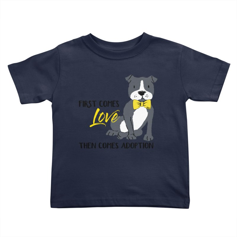Pit Bull Love Kids Toddler T-Shirt by SPCA of Texas' Artist Shop