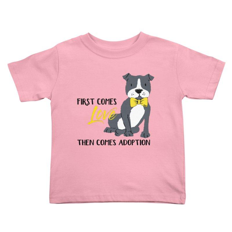 Pit Bull Love Kids Toddler T-Shirt by SPCA of Texas' Artist Shop