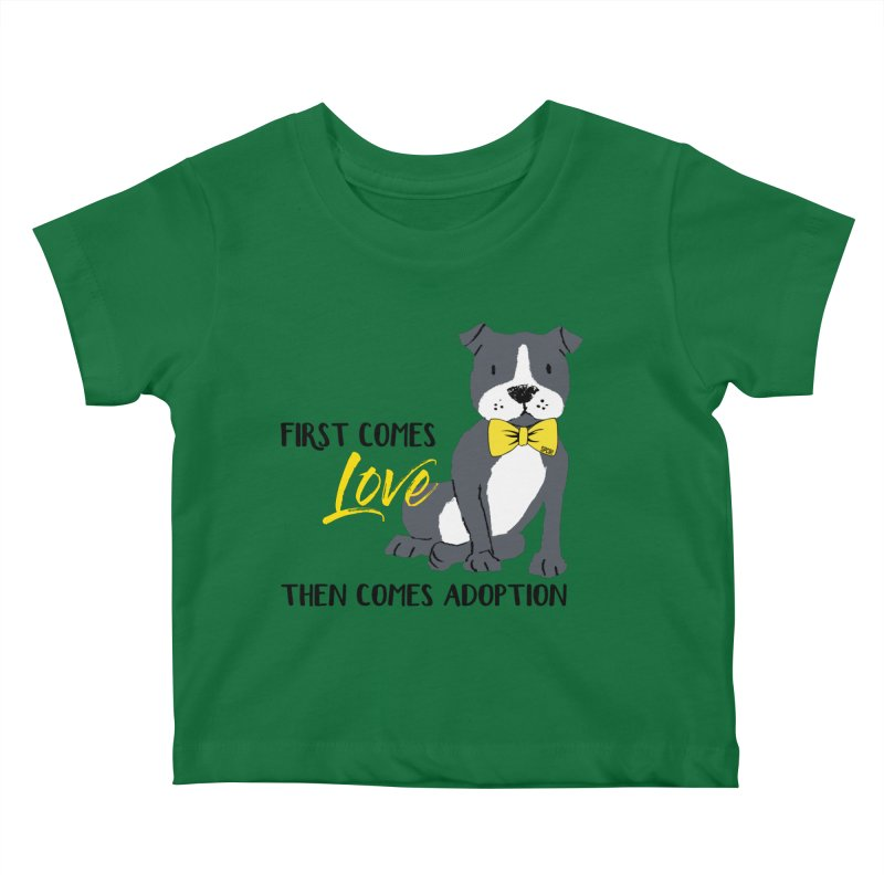 Pit Bull Love Kids Baby T-Shirt by SPCA of Texas' Artist Shop