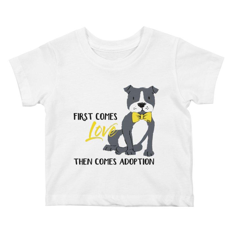 Pit Bull Love Kids Baby T-Shirt by SPCA of Texas' Artist Shop