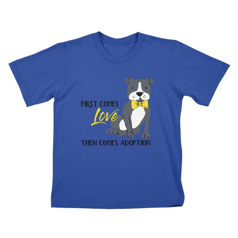 Pit Bull Love Kids T-Shirt by SPCA of Texas' Artist Shop