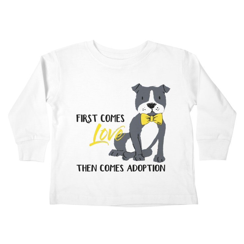 Pit Bull Love Kids Toddler Longsleeve T-Shirt by SPCA of Texas' Artist Shop