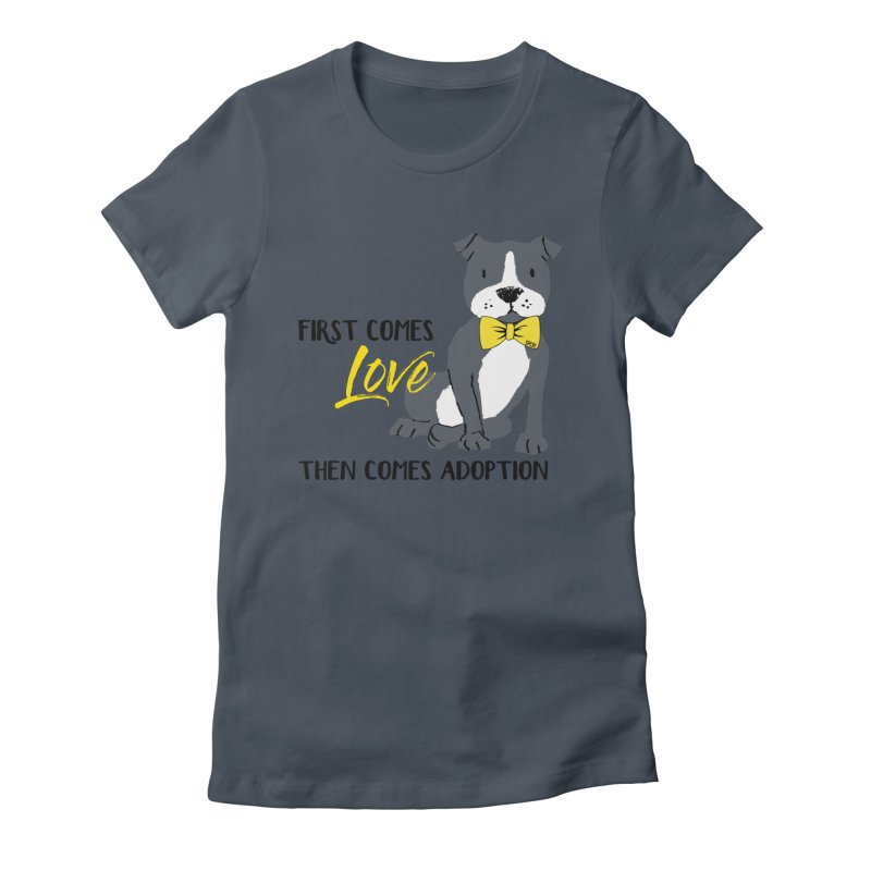 Pit Bull Love Women's Fitted T-Shirt by SPCA of Texas' Artist Shop