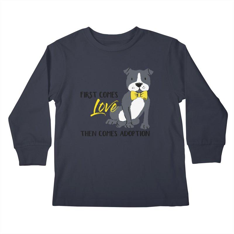 Pit Bull Love Kids Longsleeve T-Shirt by SPCA of Texas' Artist Shop