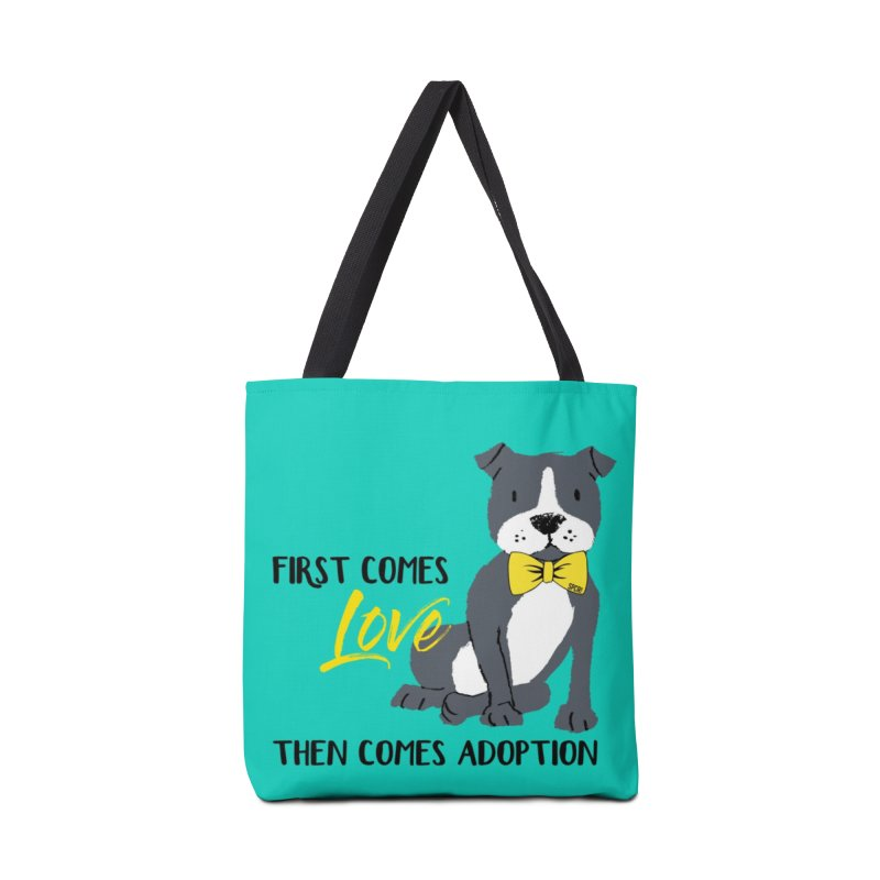 Pit Bull Love Accessories Tote Bag Bag by SPCA of Texas' Artist Shop