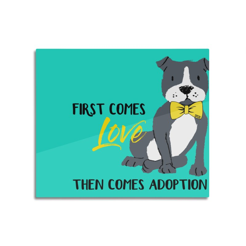 Pit Bull Love Home Mounted Acrylic Print by SPCA of Texas' Artist Shop