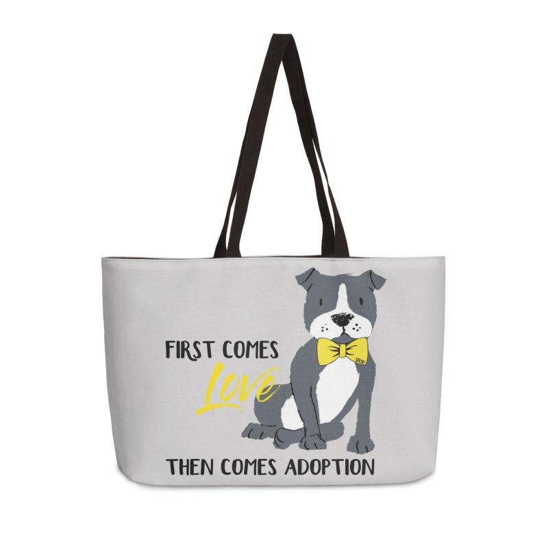 Pit Bull Love Accessories Weekender Bag Bag by SPCA of Texas' Artist Shop