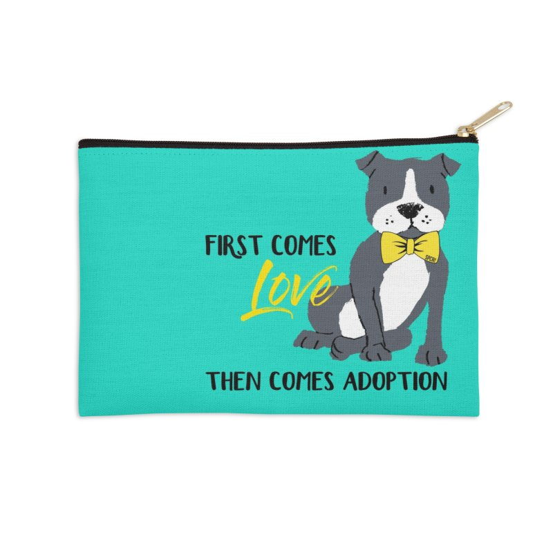 Pit Bull Love Accessories Zip Pouch by SPCA of Texas' Artist Shop