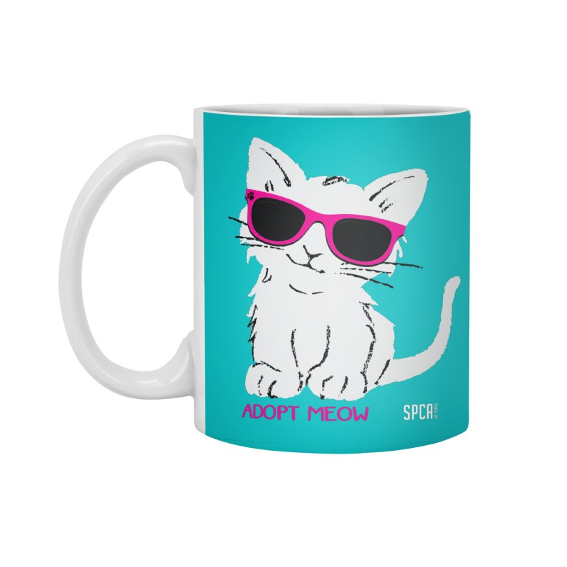 Adopt Meow Accessories Standard Mug by SPCA of Texas' Artist Shop