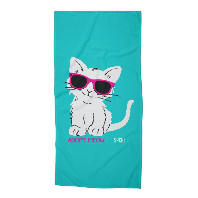 Adopt Meow Accessories Beach Towel by SPCA of Texas' Artist Shop