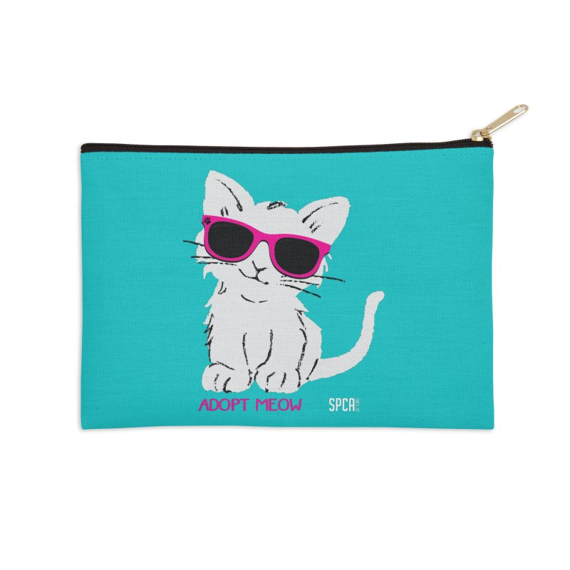 Adopt Meow Accessories Zip Pouch by SPCA of Texas' Artist Shop
