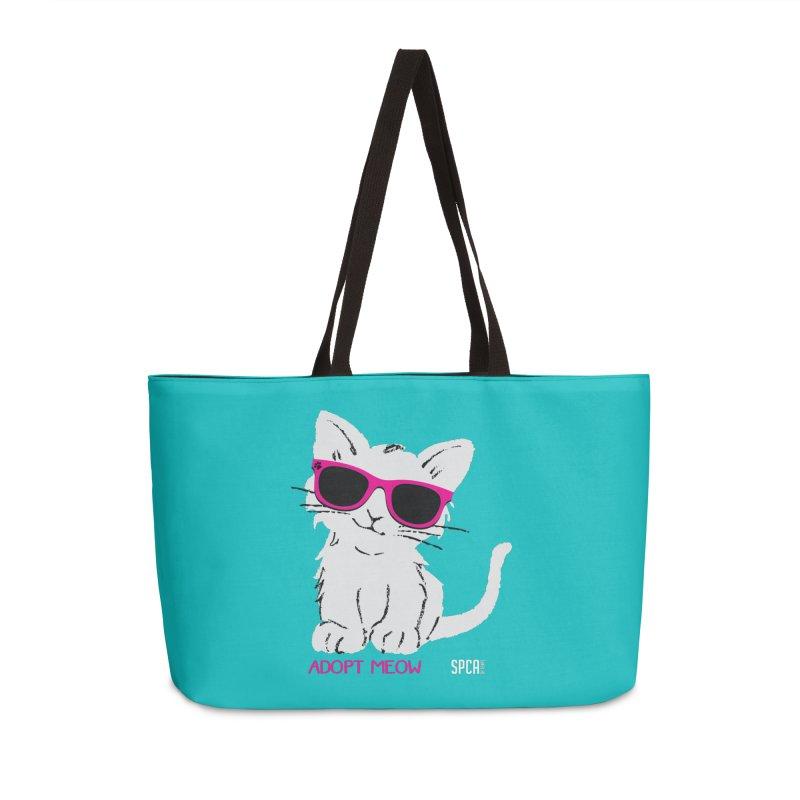 Adopt Meow Accessories Weekender Bag Bag by SPCA of Texas' Artist Shop
