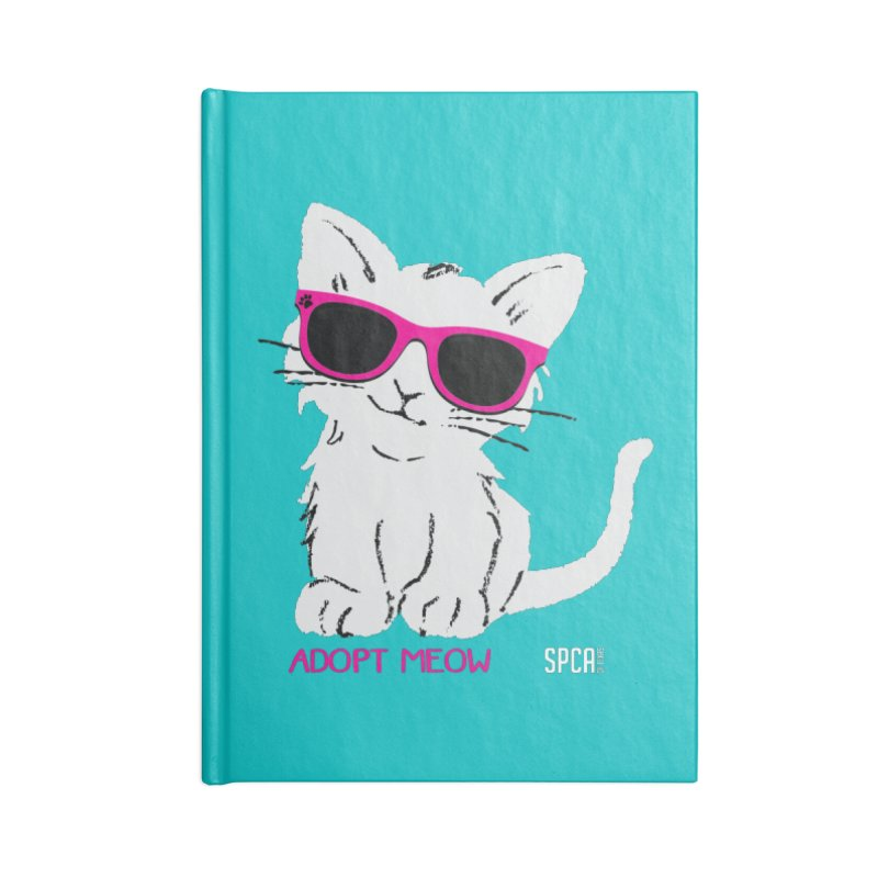 Adopt Meow Accessories Lined Journal Notebook by SPCA of Texas' Artist Shop