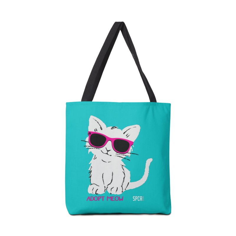 Adopt Meow Accessories Tote Bag Bag by SPCA of Texas' Artist Shop