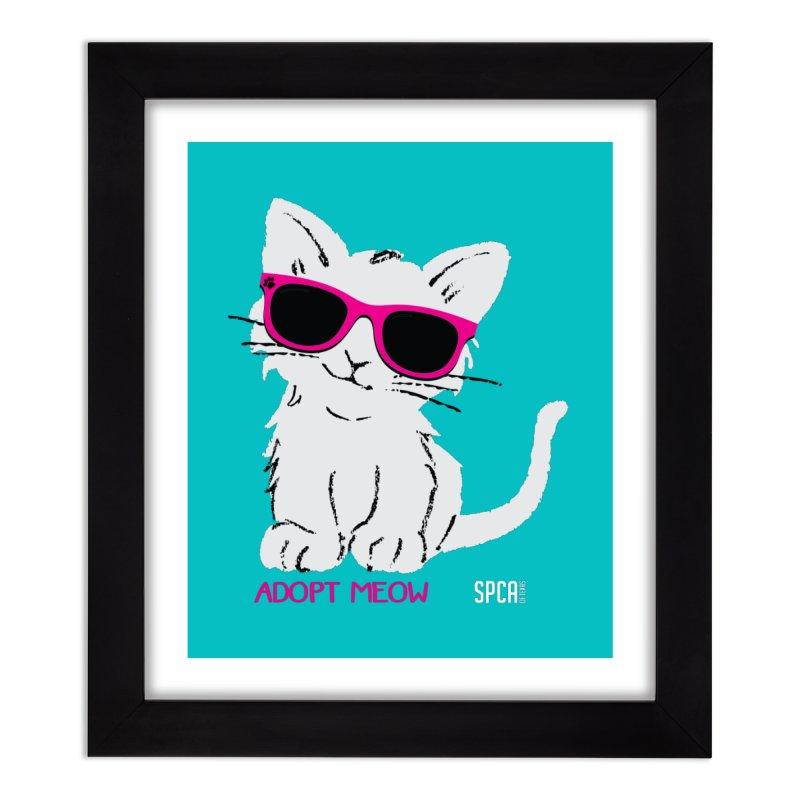Adopt Meow Home Framed Fine Art Print by SPCA of Texas' Artist Shop