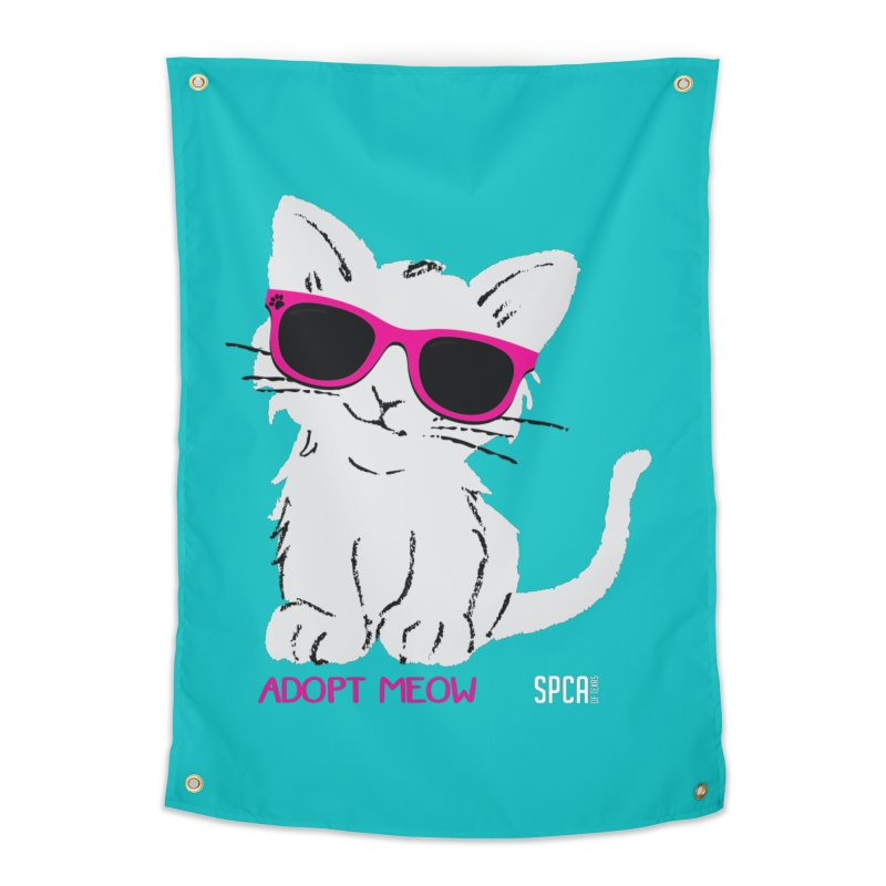 Adopt Meow Home Tapestry by SPCA of Texas' Artist Shop