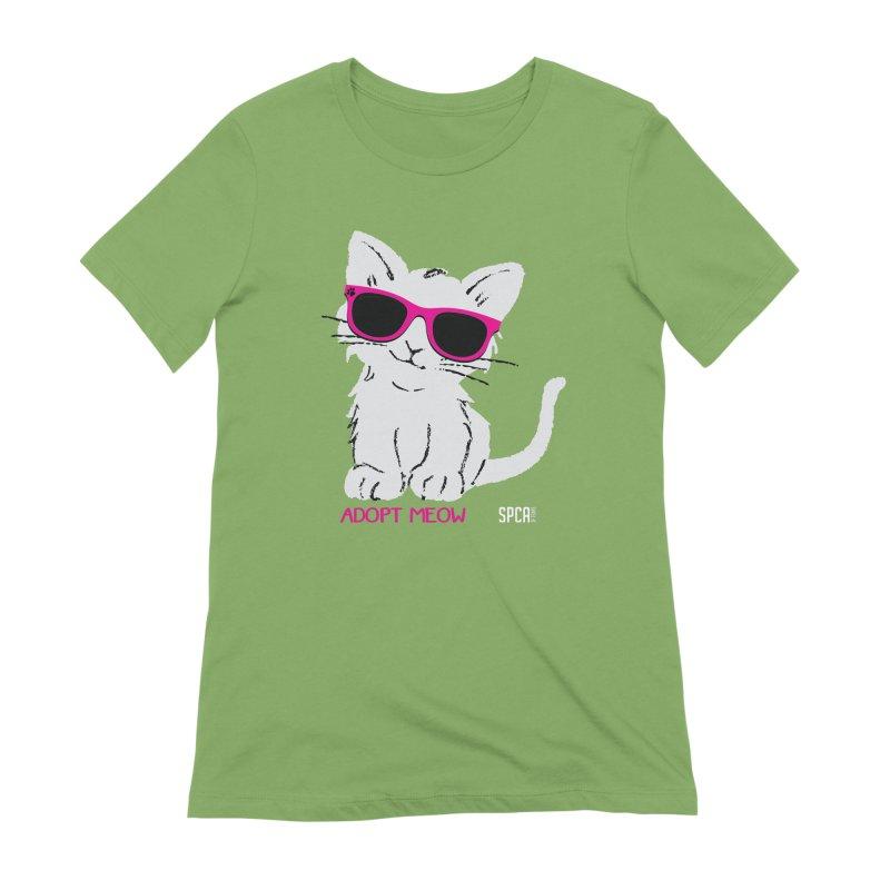 Adopt Meow Women's Extra Soft T-Shirt by SPCA of Texas' Artist Shop