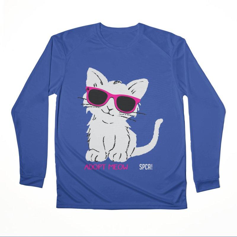 Adopt Meow Men's Performance Longsleeve T-Shirt by SPCA of Texas' Artist Shop