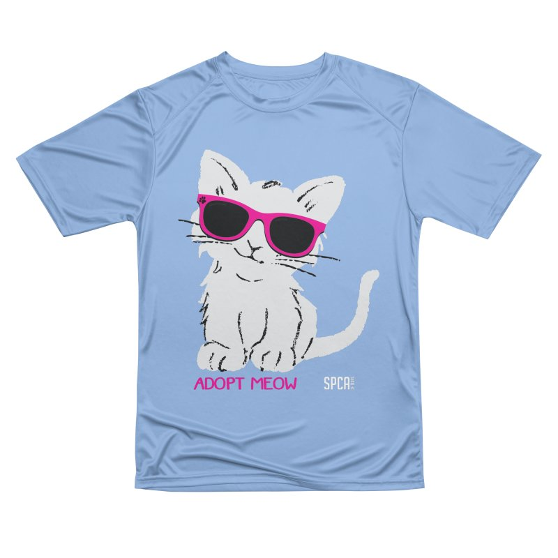 Adopt Meow Men's T-Shirt by SPCA of Texas' Artist Shop