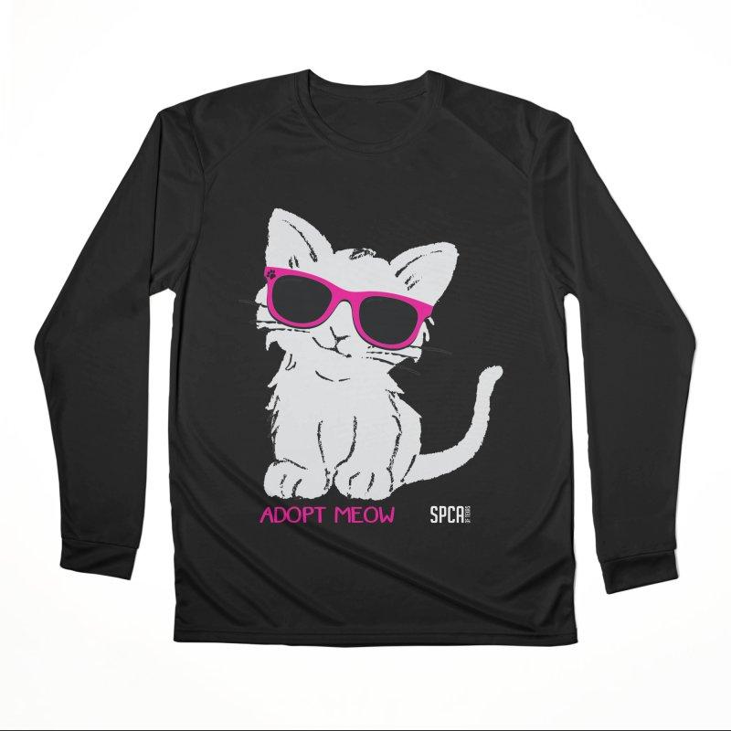 Adopt Meow Women's Performance Unisex Longsleeve T-Shirt by SPCA of Texas' Artist Shop