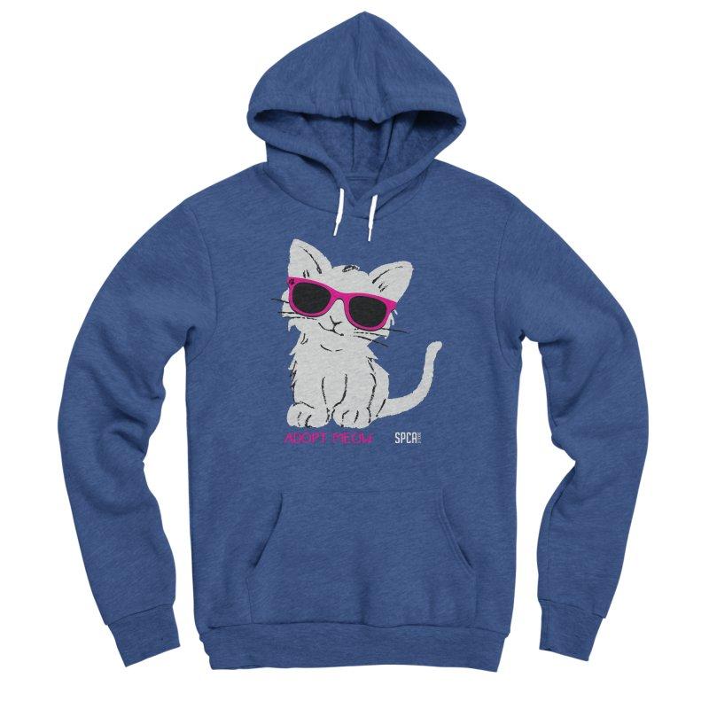 Adopt Meow Women's Sponge Fleece Pullover Hoody by SPCA of Texas' Artist Shop