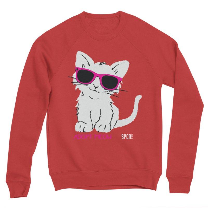 Adopt Meow Women's Sponge Fleece Sweatshirt by SPCA of Texas' Artist Shop