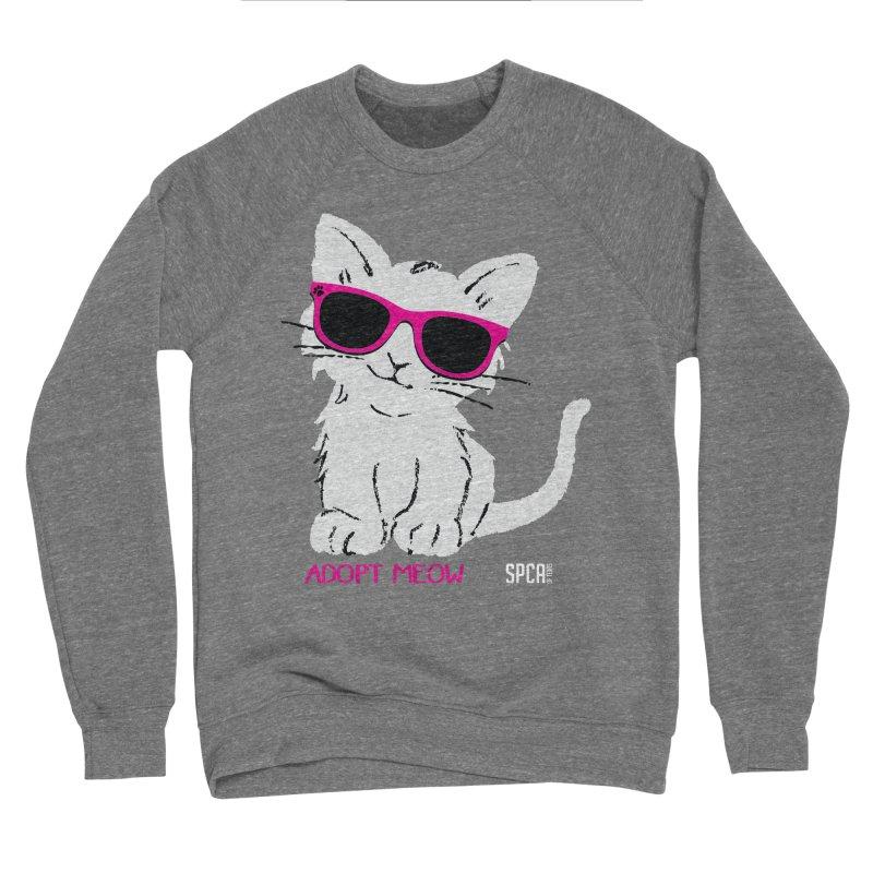 Adopt Meow Men's Sponge Fleece Sweatshirt by SPCA of Texas' Artist Shop
