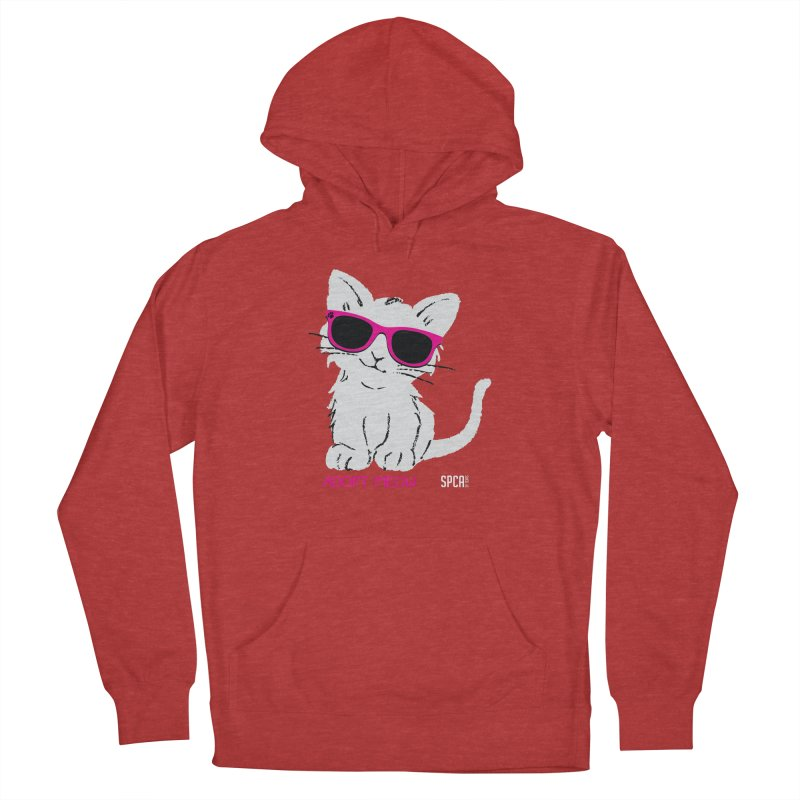 Adopt Meow Men's French Terry Pullover Hoody by SPCA of Texas' Artist Shop