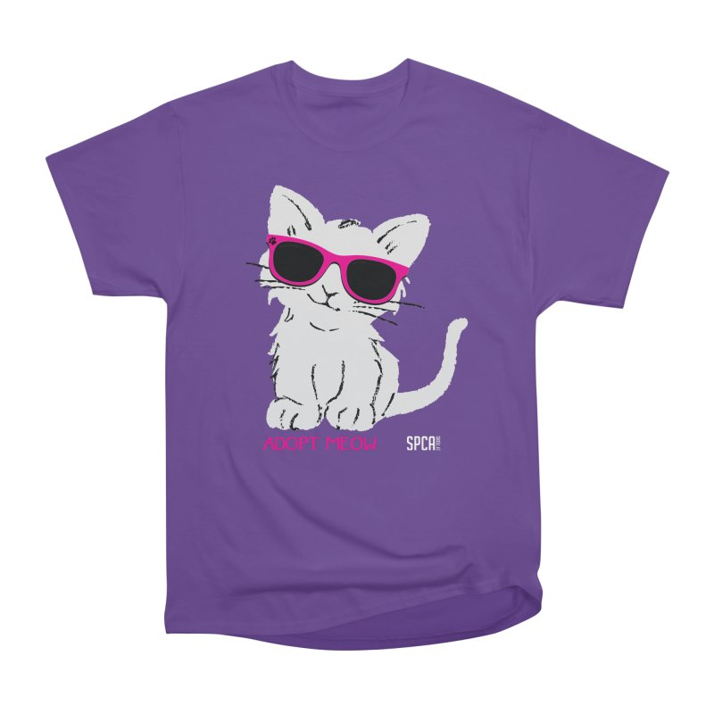 Adopt Meow Men's Heavyweight T-Shirt by SPCA of Texas' Artist Shop