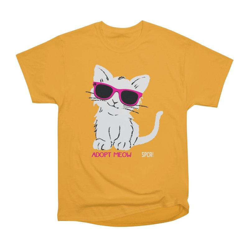Adopt Meow Women's Heavyweight Unisex T-Shirt by SPCA of Texas' Artist Shop