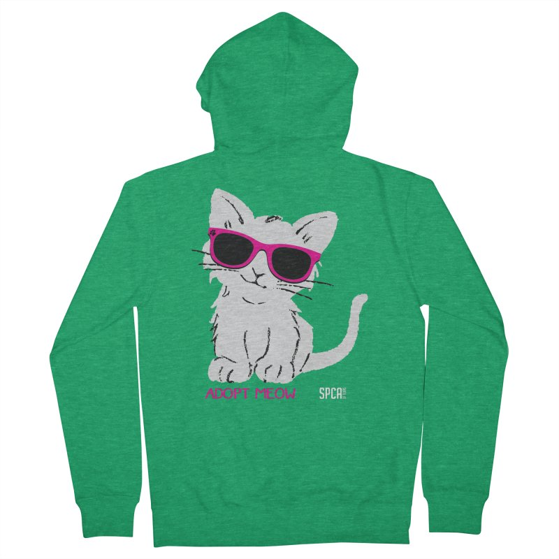 Adopt Meow Women's Zip-Up Hoody by SPCA of Texas' Artist Shop