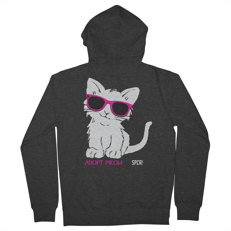 Adopt Meow Women's French Terry Zip-Up Hoody by SPCA of Texas' Artist Shop
