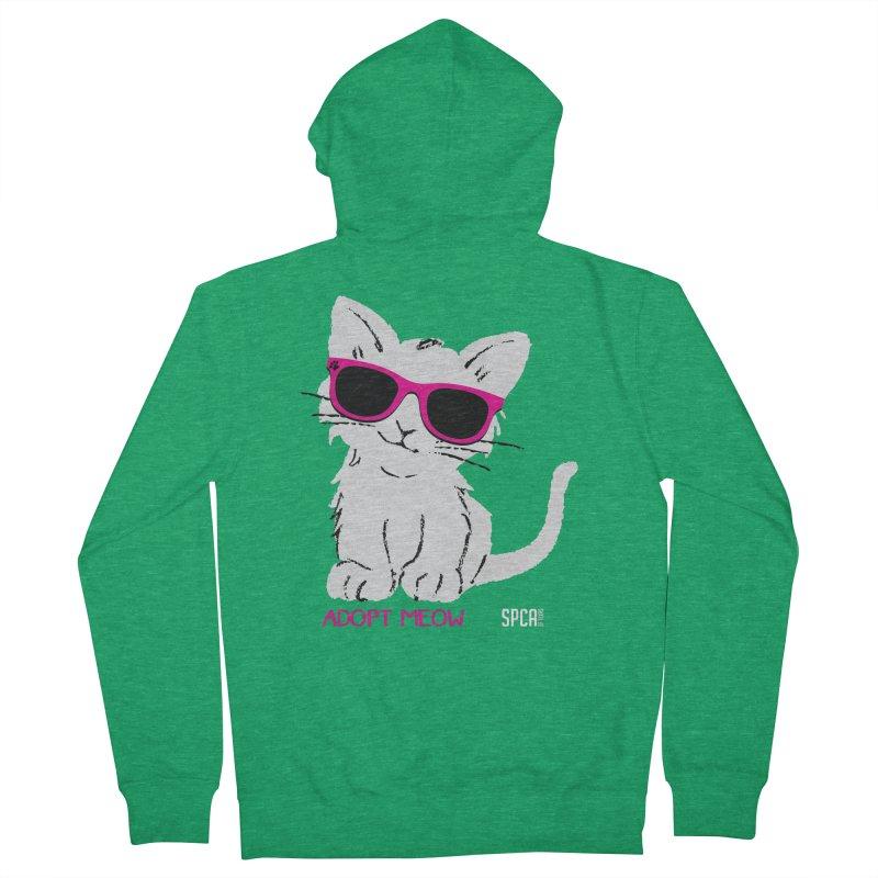 Adopt Meow Men's Zip-Up Hoody by SPCA of Texas' Artist Shop